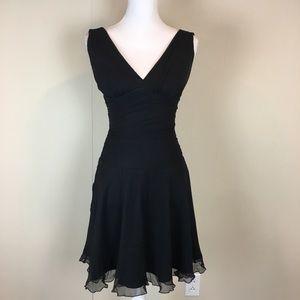 Express Women's Dress Size 0 Black 100% Silk